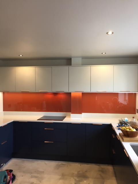 Glass Panel Splashback